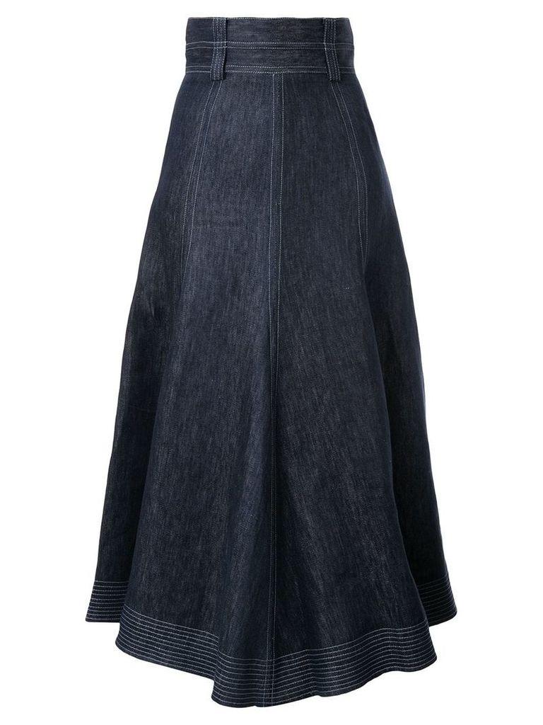 Gabriela Hearst high-waisted denim skirt - Blue