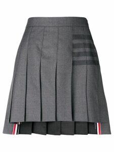 Thom Browne 4-Bar pleated mini skirt - Grey