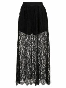 Fleur Du Mal high waisted lace skirt - Black