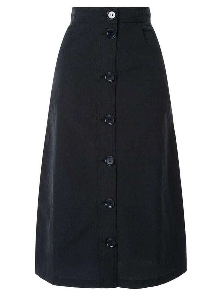 Christian Wijnants high-waisted button front skirt - Blue