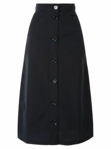Christian Wijnants high-waisted button front skirt - Blue