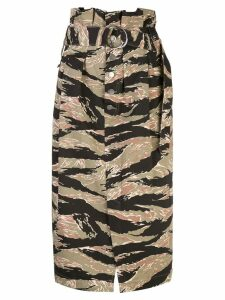 Rachel Comey printed belted skirt - Green