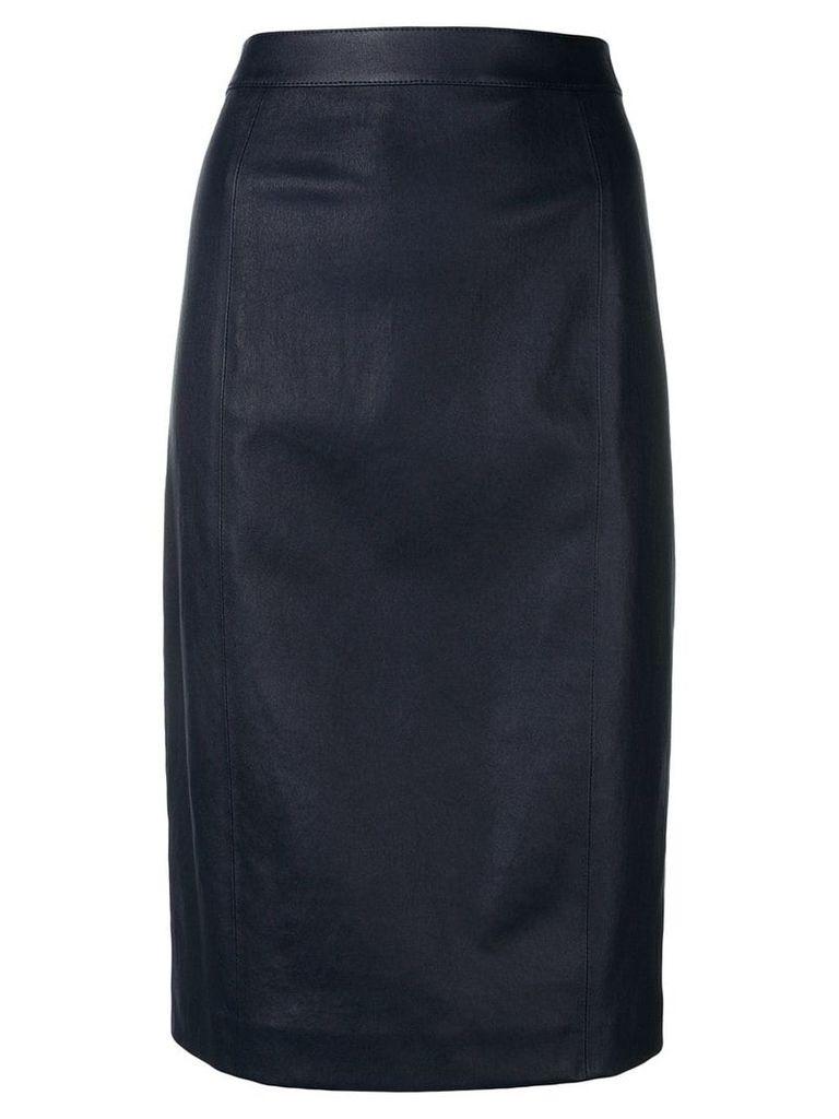 Joseph lambskin pencil skirt - Blue
