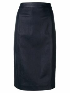 Joseph lambskin pencil skirt - Blue