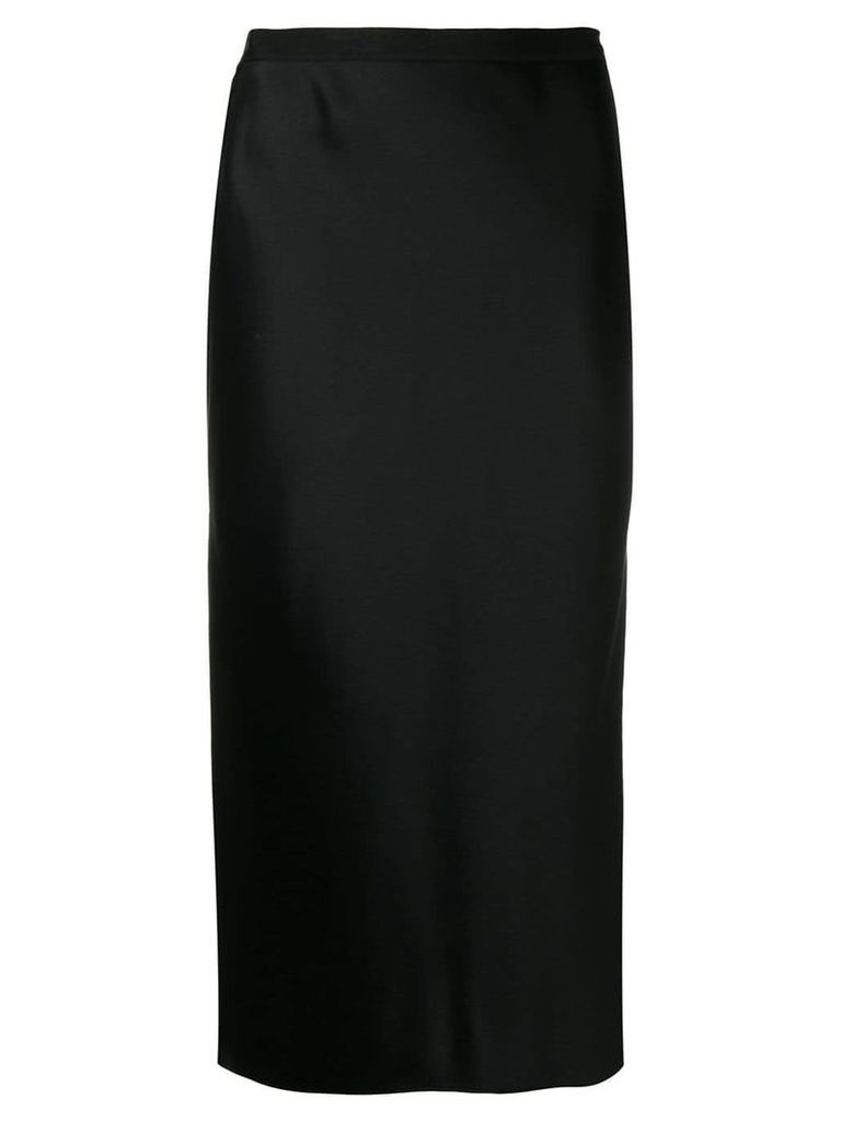 Joseph satin midi skirt - Black
