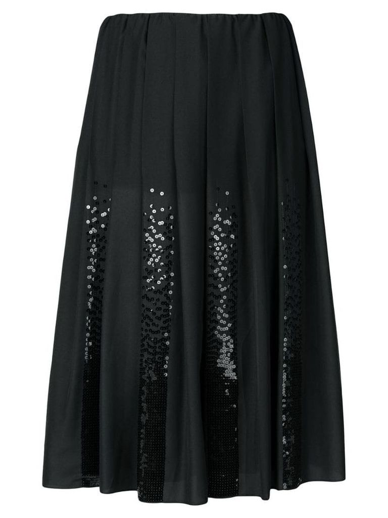 Fabiana Filippi sequin panel pleated skirt - Black
