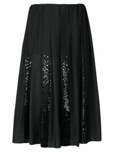 Fabiana Filippi sequin panel pleated skirt - Black