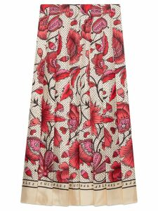 Gucci Silk skirt with watercolor flower print - Neutrals