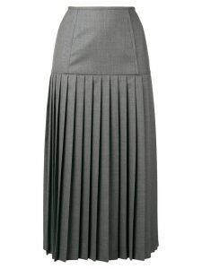 Thom Browne Corset Yoke Pleated Skirt - Grey