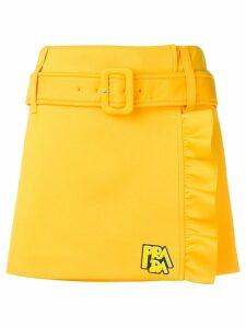 Prada belted mini skirt - Yellow