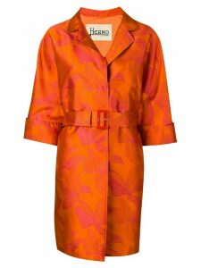 Herno flower print trenchcoat - Orange