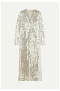 Temperley London - Sequined Tulle Robe - Silver