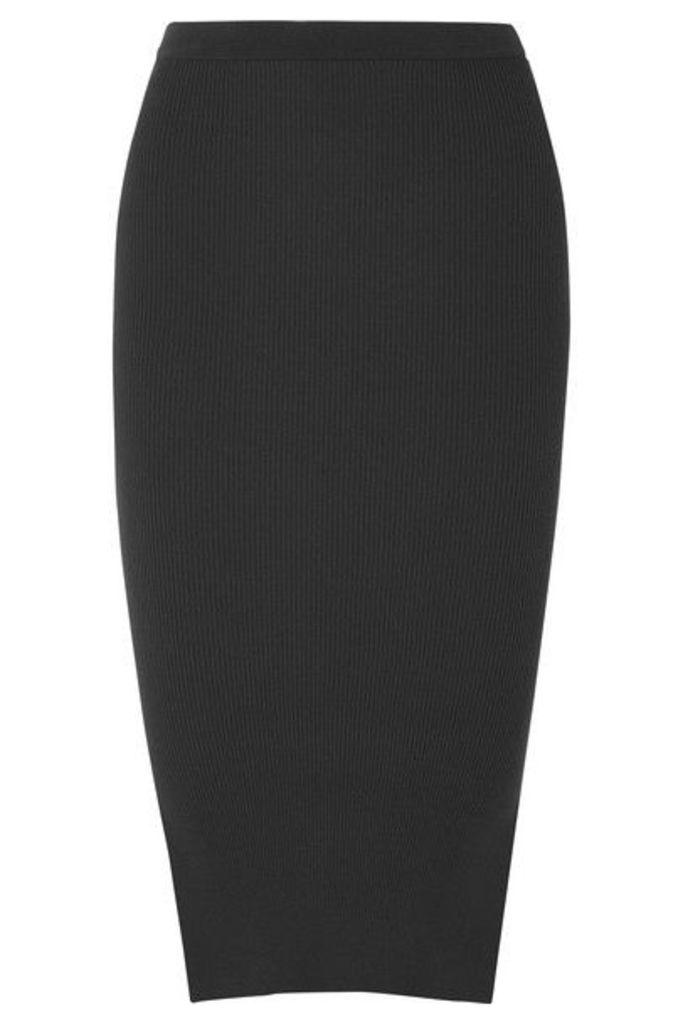Rick Owens - Ribbed Stretch-knit Skirt - Navy