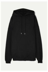 Ninety Percent - Jumbo Oversized Organic Cotton-jersey Hoodie - Black