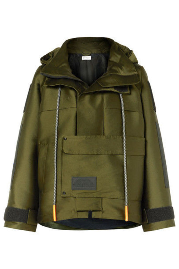 Palm Angels - Hooded Canvas Parka - Army green