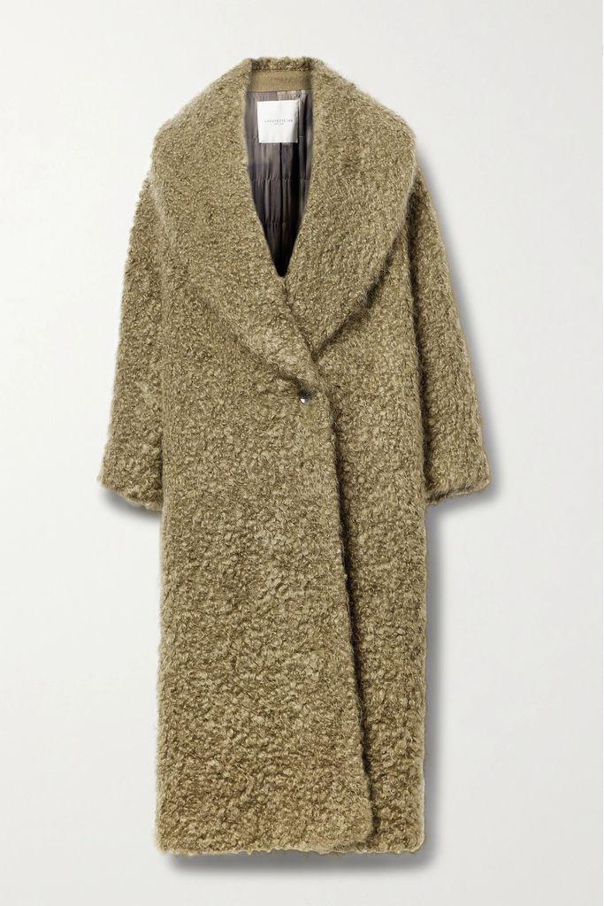 Rick Owens - Hooded Coated Linen-blend Trench Coat - Black