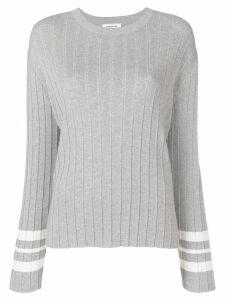 Thom Browne Trompe L'oeil Pleat Pullover - Grey