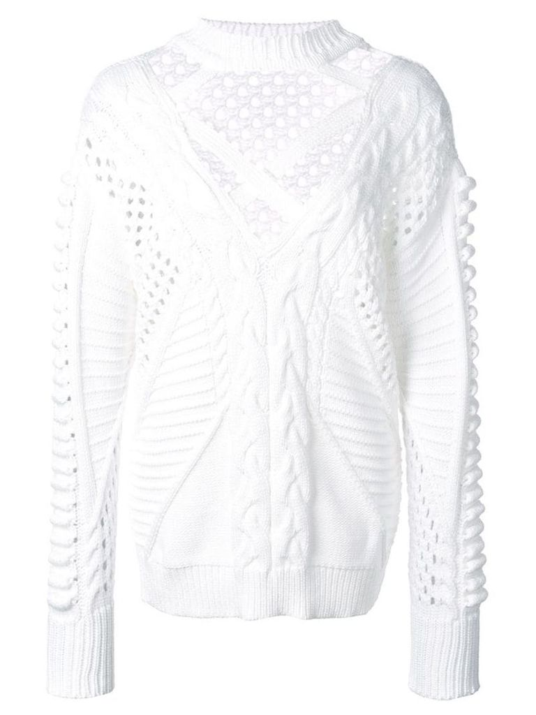 Cushnie cut-out detail sweater - White