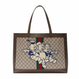 Ophidia GG tote with Three Little Pigs