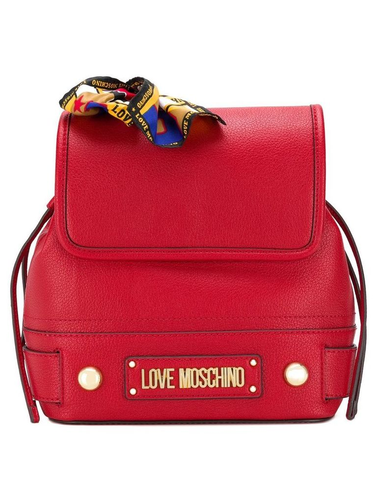 Love Moschino scarf-detail backpack - Red