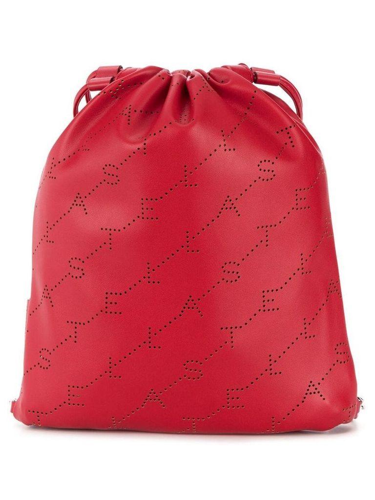 Stella McCartney mini monogram drawstring bag - Red