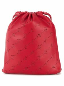 Stella McCartney mini monogram drawstring bag - Red