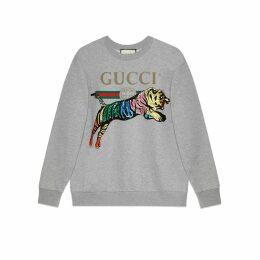 Oversize sweatshirt with tiger