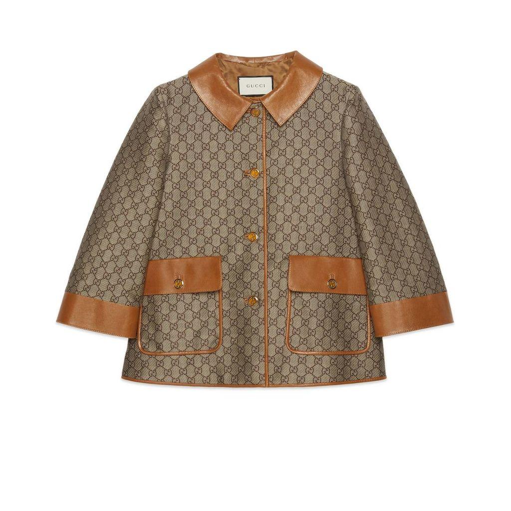 GG wool canvas jacket