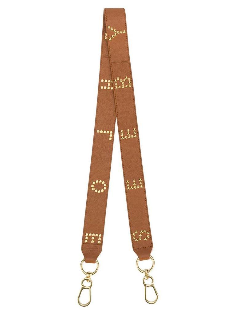 See By Chloé logo studs bag strap - Brown