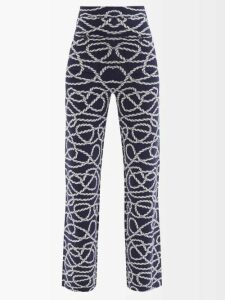 Missoni - Halterneck Lamé Crochet Knit Dress - Womens - Green