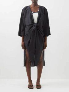 Saint Laurent - Single Breasted Wool Twill Blazer - Womens - Black