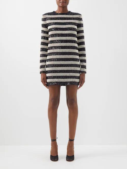 Saint Laurent - Free Bird Tour Print Cotton T Shirt - Womens - Black Multi