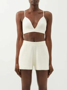 Acne Studios - Single Breasted Checked Blazer - Womens - Navy Multi