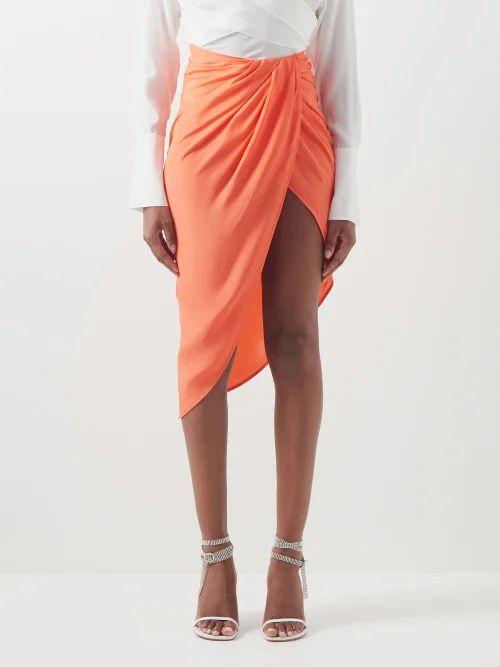 Martine Rose - Striped Slim Fit Cotton Poplin Shirt - Womens - Green Multi