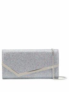 Jimmy Choo Emmie glitter clutch - Silver