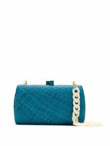 Serpui raffia clutch - Blue