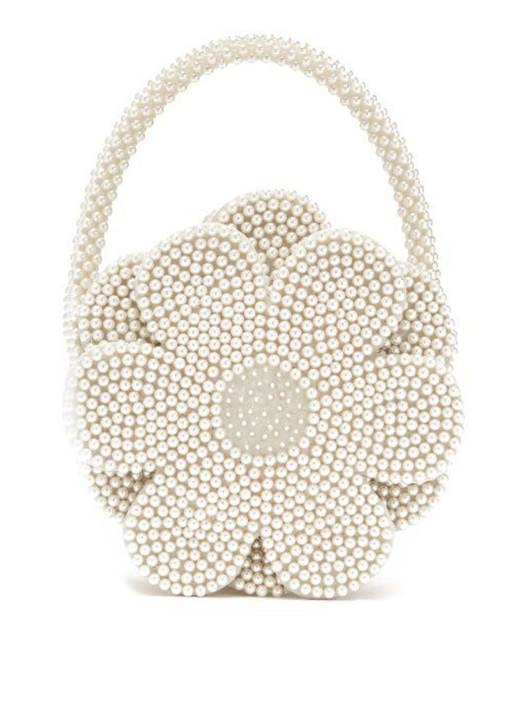 Shrimps - Buttercup Faux Pearl Embellished Bag - Womens - Cream