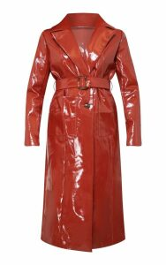 Toffee Vinyl Trench Coat, Toffee