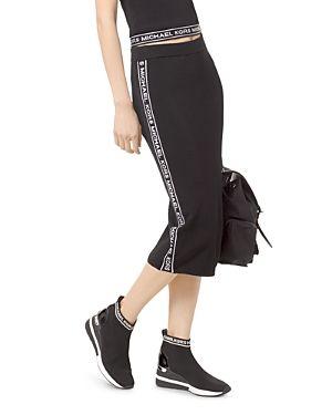 Michael Michael Kors Logo Midi Pencil Skirt