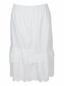 McQ Alexander McQueen Scalloped Hem Skirt
