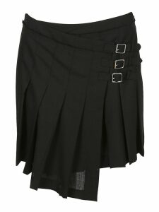 Mcq Alexander Mcqueen Pleated Wrap Skirt