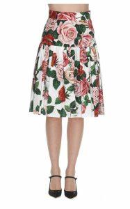 Dolce & Gabbana Roses Print Skirt