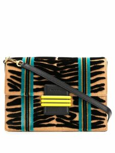 Etro panelled woven shoulder bag - Neutrals