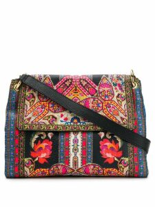 Etro paisley print shoulder bag - Black