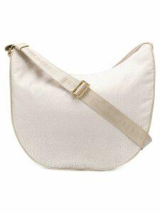 Borbonese medium luna shoulder bag - Neutrals