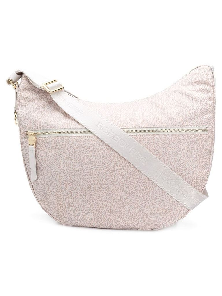 Borbonese large hobo bag - Neutrals