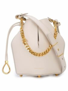 Alexander McQueen bucket chain shoulder bag - White