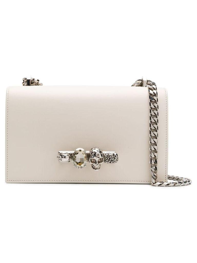 Alexander McQueen knuckle duster shoulder bag - White