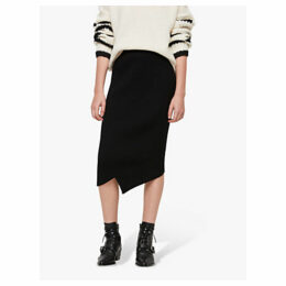 AllSaints Amara Asymmetric Pencil Skirt, Black