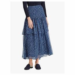 Ralph Lauren Aubrianna Ruffle Skirt, Vintage Blue/Whisper Blue
